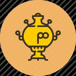 boiler, kitchen, samovar, tea, teapot icon