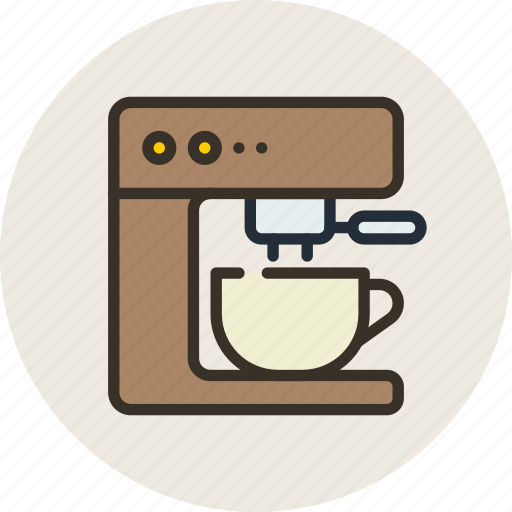 coffee, coffee machine, kitchen, machine icon