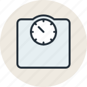 floor, human, scales, weight icon