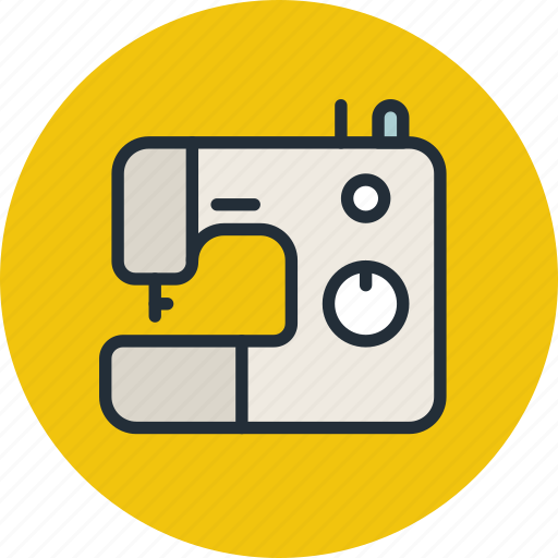 machine, needle, sew, sewing icon