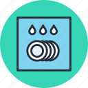 dishwasher, kitchen, layout, plan icon