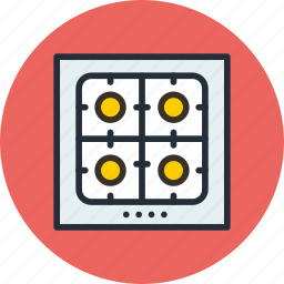 cooker, gas, kitchen, oven, plan, plate, stove icon