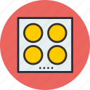 cooker, electro, induction, kitchen, oven, plate, stove icon