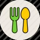 baby, feeding, fork, spoon