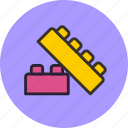 baby, blocks, bricks, constructor, toy icon