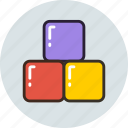 baby, blocks, box, bricks, constructor, toy icon