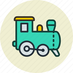 baby, game, railroad, toy, train icon