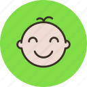 baby, child, face, infant, newborn icon
