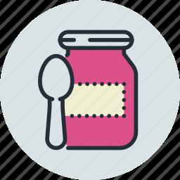 baby, feeding up, food, jam, preserves icon
