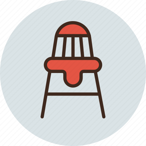 baby, chair, child, feeding icon