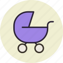 baby, buggy, carriage, pram icon