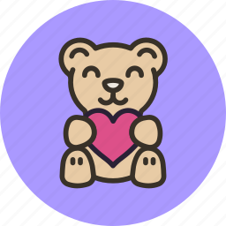 baby, bear, heart, love, present, teddy, toy icon