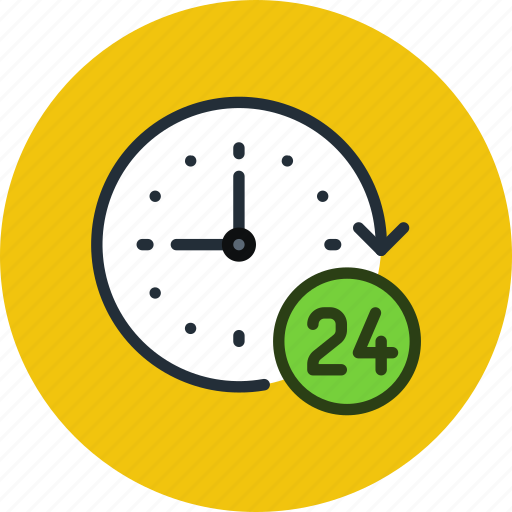 clock, hours, support, time, work icon