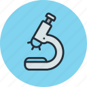 biology, glass, medicine, microscope icon