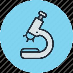 biology, glass, medicine, microscope icon
