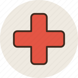 apothecary, chest, cross, drugstore, medicine, pharmacy, red icon
