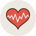 cardiogram, heart, medicine, pulse icon