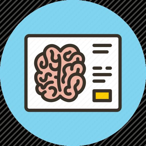 brain, medicine, tomography, xray icon