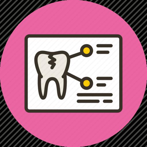 medicine, tomography, tooth, xray icon