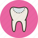 biology, filling, medicine, tooth icon