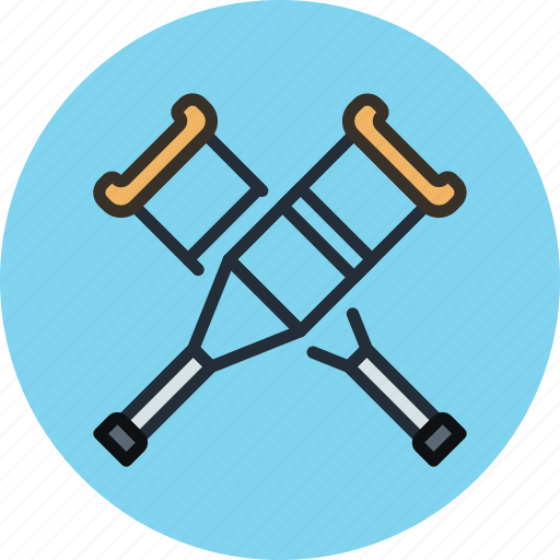 crutches, help, medicine icon