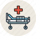 bed, hospital, medicine, treatment icon