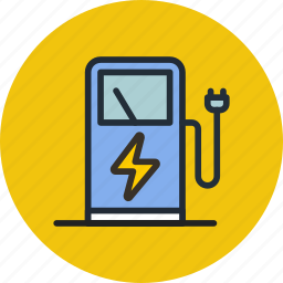 charge, eco, electric, plug, power, station icon