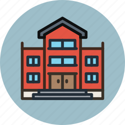 bullding, house, library, school icon