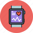 fitband, health, medicine, monitor, smart, watch icon