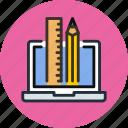 edit, create, laptop, draw, online