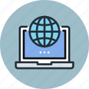 digital, global, laptop, network, online, web, work icon