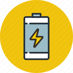 battery, charge, lightning, power icon
