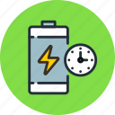 battery, charge, lightning, power, time