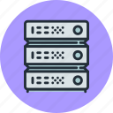 data, database, hosting, rack, server