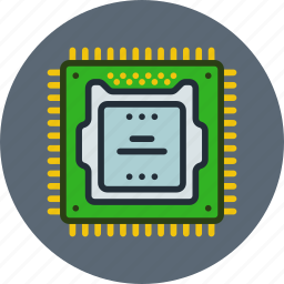 computer, hardware, microchip, processor, technology icon