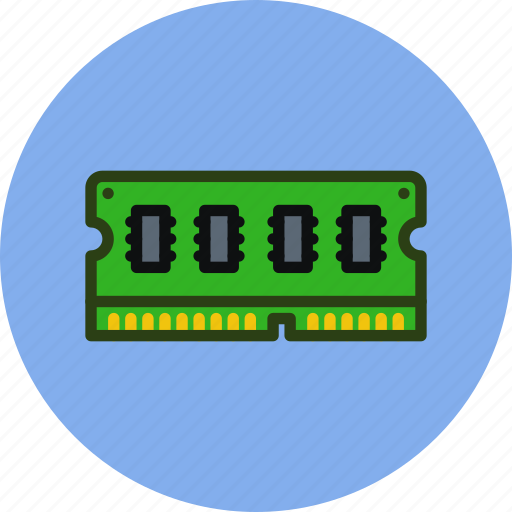computer, hardware, memory, ram, technology icon