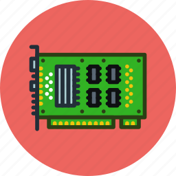 card, computer, hardware, microchip, sound, technology icon
