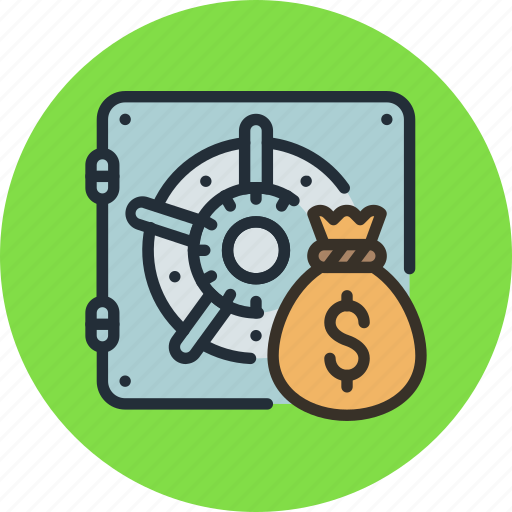 bag, bank, deposit, finance, money, safe, secure icon