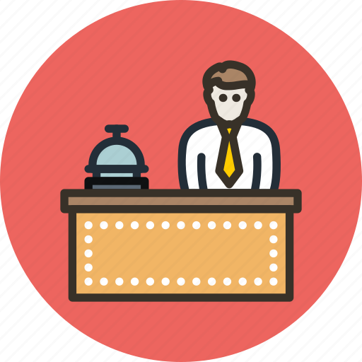 concierge, employee, hotel, manager, service icon