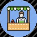 cashier, employee, market, seller, shop