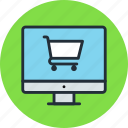 cart, computer, digital, ecommerce, online, shop, store icon