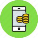mobile, money icon