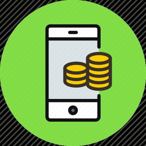 mobile, money icon