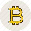 bitcoin, currency, electro, finance, money icon