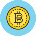 bitcoin, coin, crypto, electro, finance, money icon