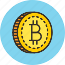 bitcoin, blockchain, money icon