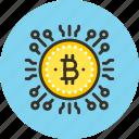 bitcoin, coin, electro, electronic, finance, money icon