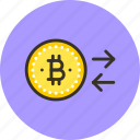 bitcoin, change, money icon