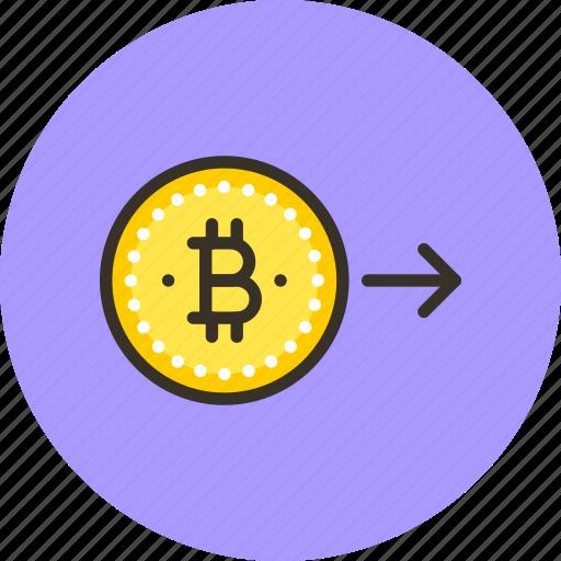 bitcoin, coin, convert, electro, finance, money, send icon
