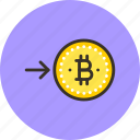 bitcoin, coin, convert, electro, finance, money, request icon